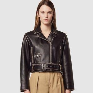 BRAND NEW Sandro Shay Leather Biker Jacket